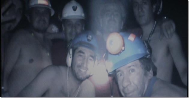 Una de las primeras imágenes de los mineros atrapados