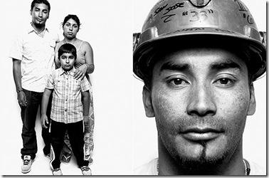 Renán Avalos, 30, especialista en explosivos. Avalos, cuyo hermano Florencio es ayudante de capataz, vive a 12 horas de distancia de la mina, y cuando trabaja, sólo es capaz de visitar a su esposa y su hijo cada dos semanas.