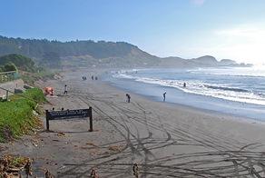 En el acceso a la playa de Matanzas existe una barrera indicadora de que no se debe circular hacia el sur