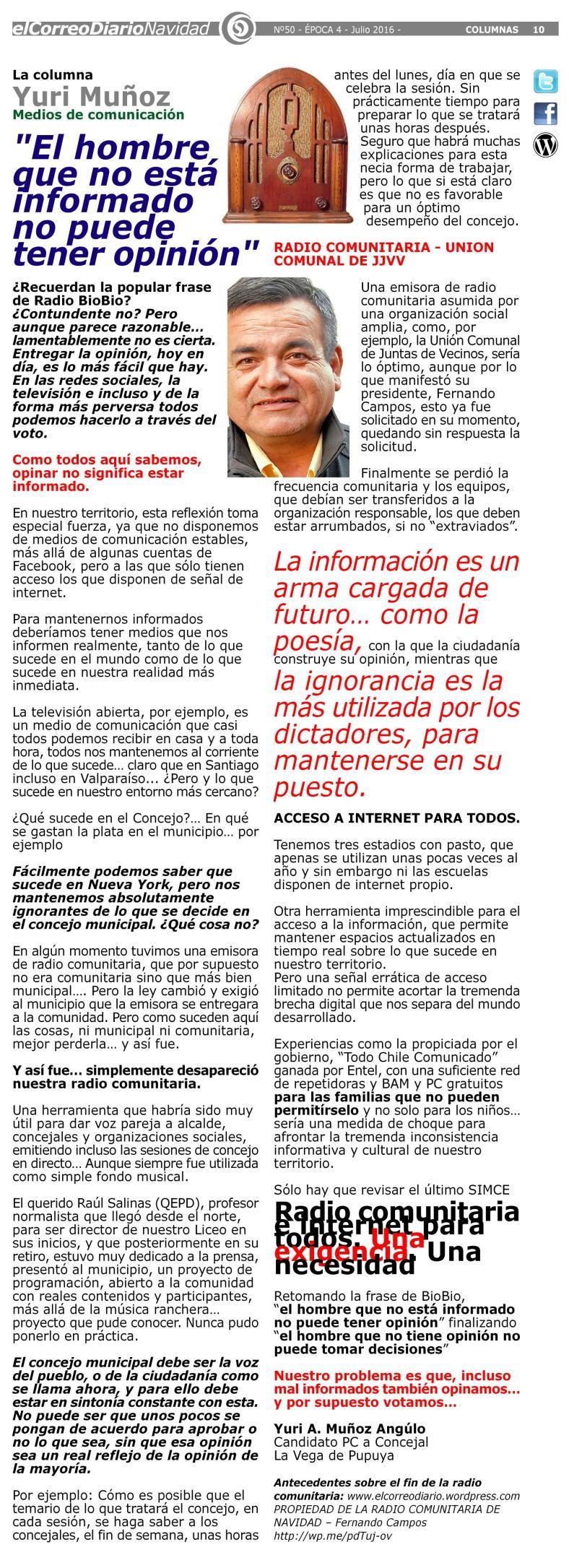 LA COLUMNA DE YURI (5) INFORMACION