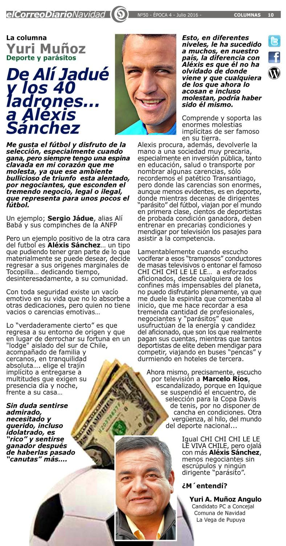 LA COLUMNA EDITORIAL ALEXIS SANCHEZ YURI 2