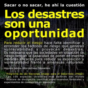 DESASTRES SON OPORTUNIDAD