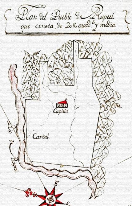 Plano de Rapel Pueblo de indios - 1790